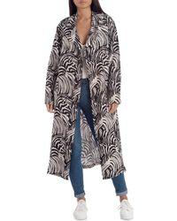 Avec Les Filles Linen-blend Trench Coat - Multicolour