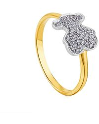 Tous Sweet Dolls 18k 0.18 Ct. Tw. Diamond Ring - Metallic