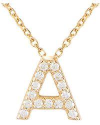 Gabi Rielle Gold Over Silver Cz Necklace - Metallic