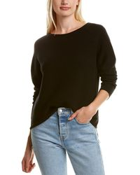 Eileen Fisher Seamless Cashmere Top - Black