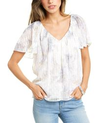 Rebecca Taylor Lily Silk-blend Top - White