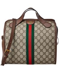 Gucci Ophidia Mini GG Supreme Canvas & Leather Duffle - Brown