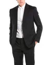 Valentino 2pc Wool Suit With Flat Pant - Blue
