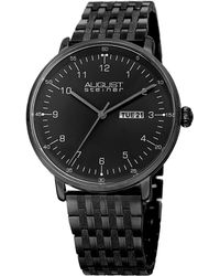 August Steiner Men's Stainless Steel Watch - Black