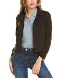 Theory Shrunken Linen-blend Jacket - Black