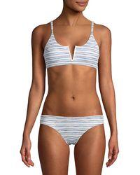 Dolce Vita V-wire Striped Bralette - Blue