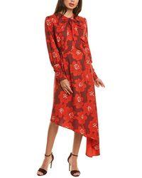 Dodo Bar Or Melody Midi Dress - Red