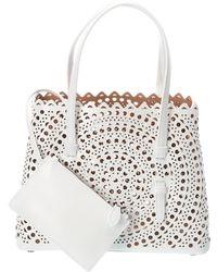 Alaïa Mina 25 Leather Shoulder Bag - White