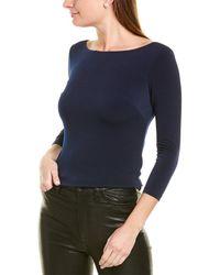 Eliza J Knit Top - Blue