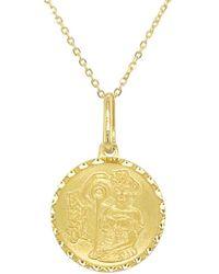 Sabrina Designs 14k Zodiac Cancer Charm Necklace - Metallic