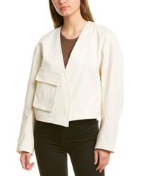 Tibi - Myriam Twill Cropped Jacket - Lyst
