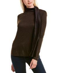 Max Mara Ande Silk-trim Top - Brown