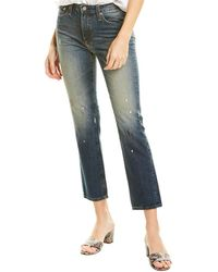 AG Jeans The Isabelle 10 Years Staggered High-rise Straight Crop - Blue