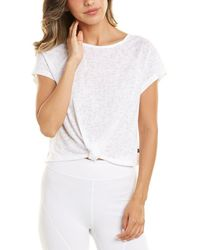 Jessica Simpson Dolly Short Sleeve Top - White