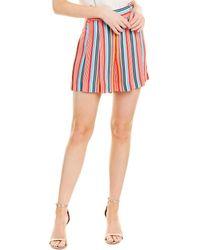Alice + Olivia Scarlet High-waist Flutter Short - Red