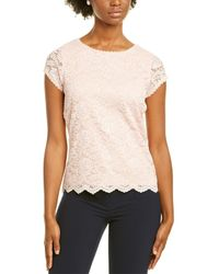 Karl Lagerfeld Lace Top - Pink