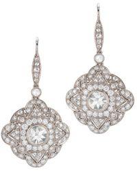 Kwiat - Vintage 18k White Gold 2.26 Ct. Tw. Diamond Earrings - Lyst