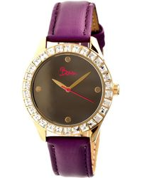 Boum - Chic Mirror-dial Leather-band Ladies Watch - Lyst
