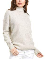Vince Funnel Neck Wool-blend Sweater - Multicolor