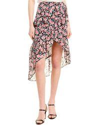 The Kooples Candy Floral Silk-blend Skirt - Pink