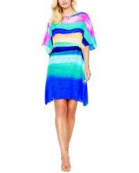 Gottex Sunrise Silk Cover-up Dress - Blue