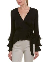 Nicole Miller Artelier Silk Top - Black
