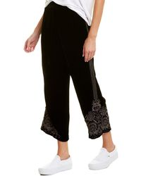 Johnny Was Silk-blend Pant - Black