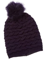 UGG Cable Pom Wool-blend Hat - Purple