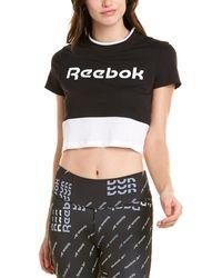 Reebok Linear Logo Crop T-shirt - Black