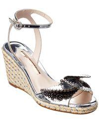 Sophia Webster Soleil Lucita Mirrored Espadrille Leather Wedge Sandal - Metallic
