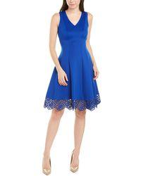 Donna Ricco A-line Dress - Blue