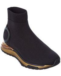 Ferragamo Gancini Sock Sneaker - Black