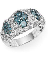 Effy - Fine Jewelry Blue & White Diamond, 14k Ring - Lyst