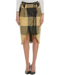 Max Mara - Sportmax Leather Pencil Skirt - Lyst