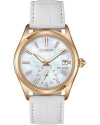 Citizen Women's Leather Watch - Metallic