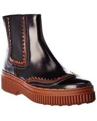 Tod's Tod?s Leather Chelsea Boot - Black