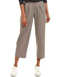 Velvet By Graham & Spencer Plaid Wool-blend Pant - Brown