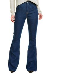 7 For All Mankind 7 For All Mankind Modern A Pocket Avrn High-rise Flare Leg - Blue