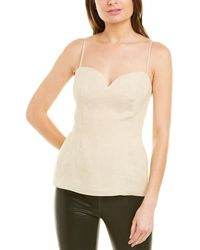 Theory Sweetheart Linen Top - Brown