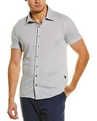 Stone Rose Knit Shirt - Grey