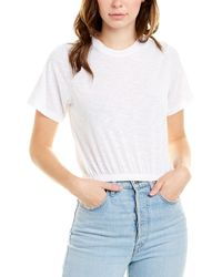 David Lerner Ashley Crop Top - White