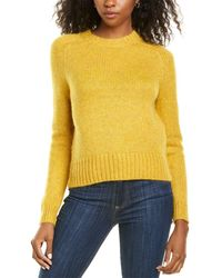 J.Crew Saddle Sleeve Wool & Alpaca-blend Sweater - Yellow
