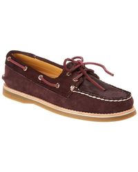 Sperry Top-Sider Haircalf & Suede Boat Shoe - Red