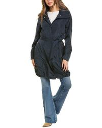 Marc New York Bubble Trench Coat - Blue