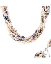 Splendid Silver 4-5mm Freshwater Pearl Necklace - Metallic