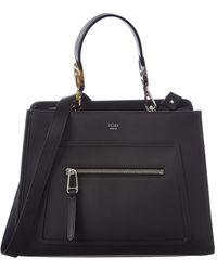 819233e506e5 Lyst - Fendi Medium Runaway Leather Top Handle Bag in Brown