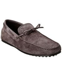 Tod's Gommino Suede Driving Shoe - Grey