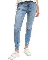 William Rast Candy Blue Sculpted High-rise Ankle Skinny Jean