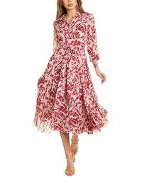 Samantha Sung Olivia Shirtdress - Pink