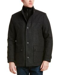 Kenneth Cole Reaction Wool-blend Coat - Grey